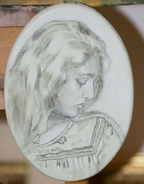 Ritratto di donna - abbozzo