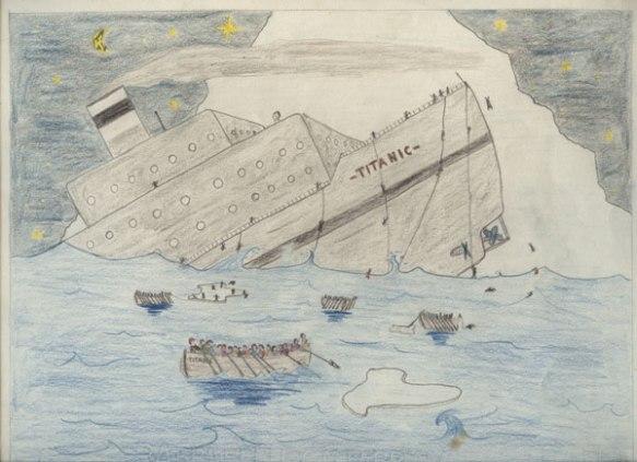 L'affondamento del Titanic - Esercizio in prima media a seguito del quale lo Stato chiese la restituzione della scatola di acquerelli
